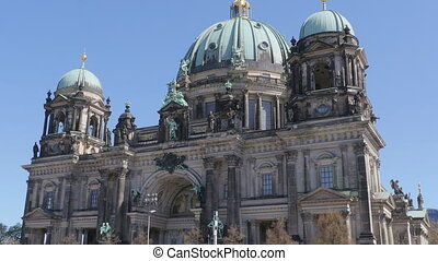 berlin cathedral establishing shot - establishing shot of...