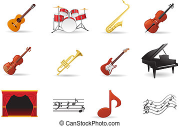 Instrument Icons Set