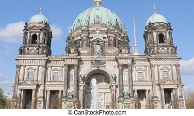 berlin cathedral germany tilt - famous berlin cathedral the...