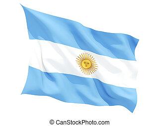 Waving flag of argentina