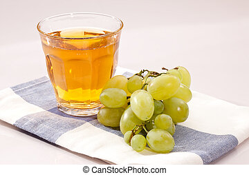 grape juice - food series: ripe grape and fresh juice