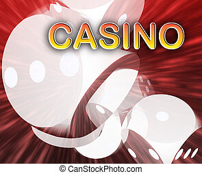 Gambling dice casino background