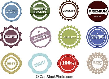 Retro vintage labels - Set of Quality and Guarantee Labels...