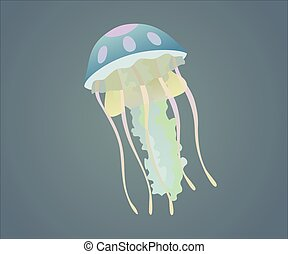 jellyfish - This is a vector illustration of jellyfish