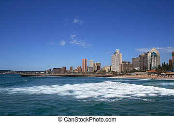 coast of Durban - the coast of Durban on a clear day