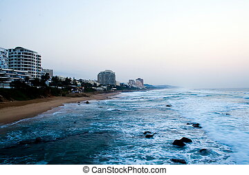 beach - view of beach along Durbans coastline