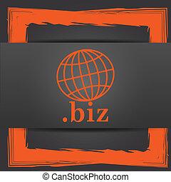 biz icon Internet button on grey background