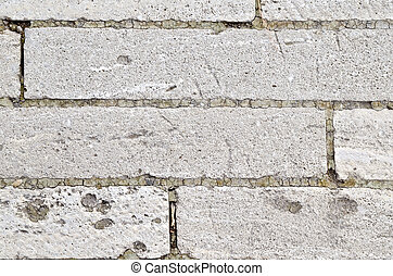 Wall of cinder block - The wall of gray cinder block and...