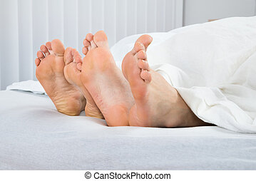 Four Feet In Bed