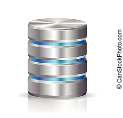 Hard disk and database - This image was made by Adobe...