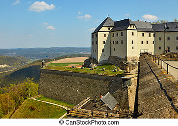 fortress of Koenigstein - The fortress of Koenigstein and...