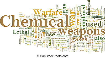 Chemical weapons word cloud - Word cloud concept...