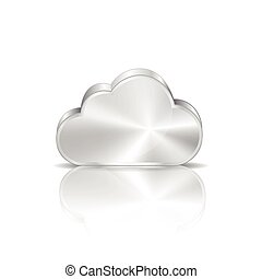 Metal cloud icon - This image was made by Adobe Illustrator...