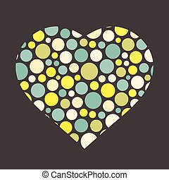 Love symbol - Background with heart Love symbol Vector...