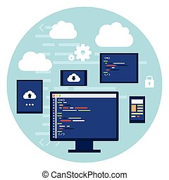 Code Editor Digital Device Screen - Code Editor Digital...