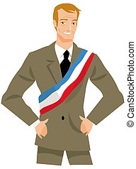 mayor or politician - drawing a French mayor or politician