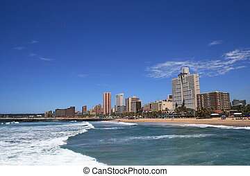 Durban - view of Durban coastline