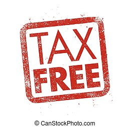 Tax Free ink stamp