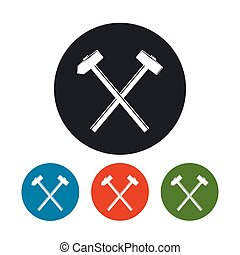Icon of a Crossed Hammer and Sledgehammer , the Four Types...