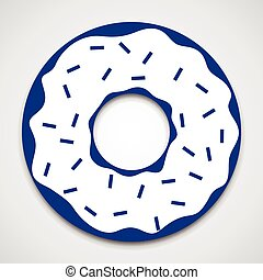 Isolated donut icon - Glazed ring doughnut. Isolated donut...