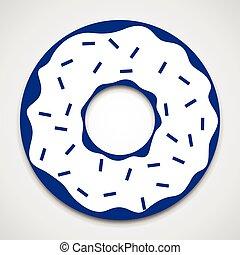 Isolated donut icon - Glazed ring doughnut. Isolated donut...