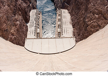 Hoover Dam at the border of Nevada and Arizona