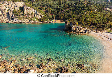 Corfu coast - Corfu island landscapes in Greece.