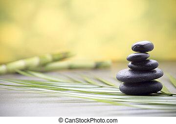 Wellness background - Stones spa treatment scene, zen like...