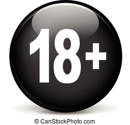 eighteen icon - Illustration of eighteen modern design black...