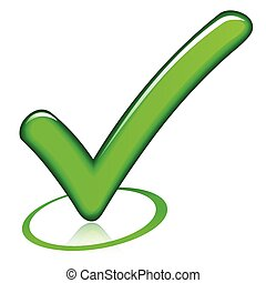 check mark design icon - illustration of green design check...
