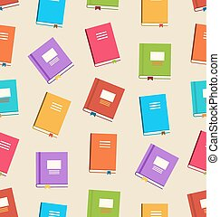 Seamless Pattern of Books for Education