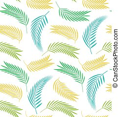 Seamless Background with Leaves of Palm Tree
