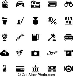 E wallet icons on white background, stock vector