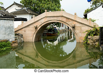 Water town - The detial of bridge contruction of water town...