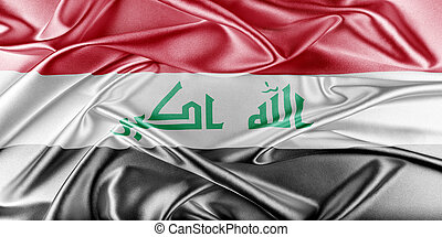 Iraq Flag Flag with a beautiful glossy silk texture