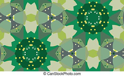 Green Floral Kaleidoscope Pattern