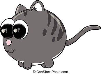 Cute Kitten Cat Vector Illustration