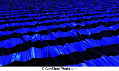 Abstract stripes in blue on black