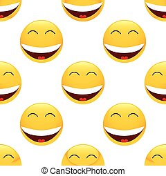 Laughing emoticon pattern