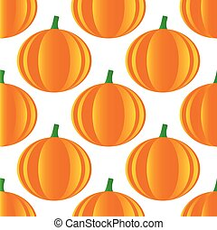 Pumpkin pattern - Vector image of pumpkin repeated on white...