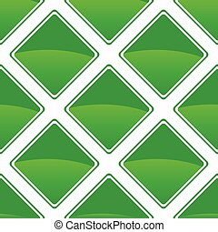 Green turned square pattern - Vector green turned square...