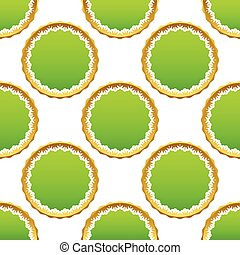 Creative certificate seal pattern - Image of green...