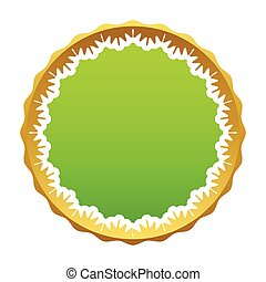 Certificate seal - Vector green certificate seal isolated on...