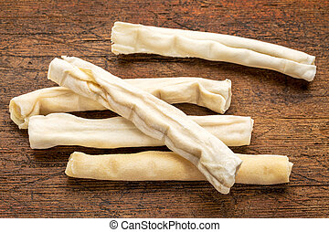rawhide bones - dog treats