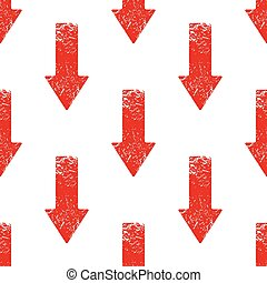 Red down arrow pattern - Vector red down arrow repeated on...