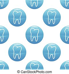 Tooth sign pattern - Round sign with tooth contour repeated...