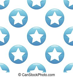 Star sign pattern - Vector round sign with star silhouette...