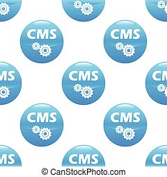 CMS sign pattern - Round sign with text CMS and two gears,...
