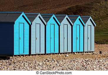 Uniformed Beach Huts - Row of Beach Huts uniformed at...
