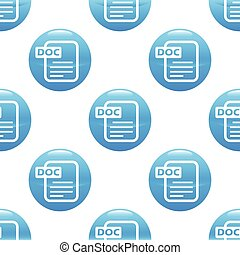 Doc file sign pattern - Round sign with doc file image,...